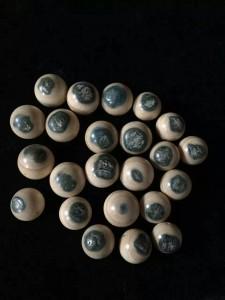 猛犸象牙蓝眼珠手串 (1)