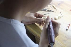 猛犸象牙雕刻工厂 (5)